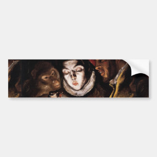 Allegory with Boy Lighting Candle by El Greco Bumper Sticker