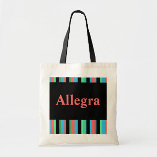 Allegra Pretty Striped Tote Bag