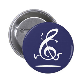 Allegro Clef 6 Cm Round Badge