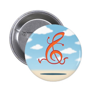 Allegro Clef Pinback Buttons