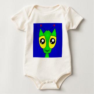 Allen Alien on a Baby Baby Bodysuit