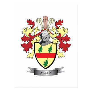 Allen Coat of Arms Postcard