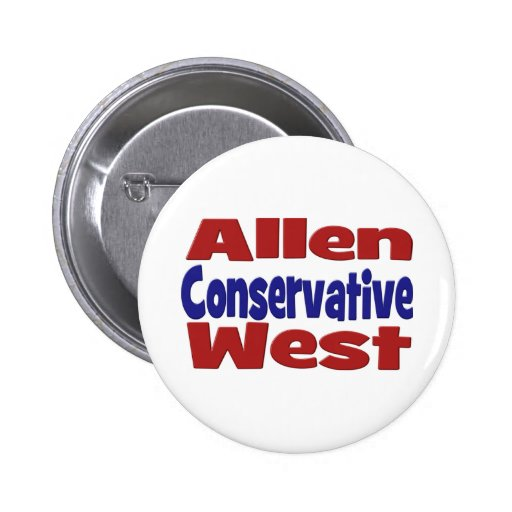 Allen West Conservative Button Pinback Buttons