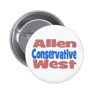 Allen West Conservative Button - pink
