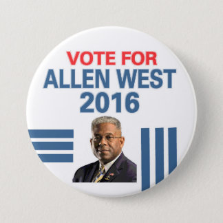 Allen West for President 2016 7.5 Cm Round Badge