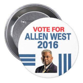 Allen West for President 2016 7.5 Cm Round Badge