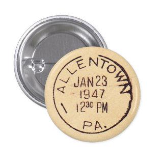 Allentown 1947 3 cm round badge