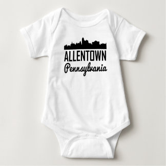 Allentown Pennsylvania Skyline Baby Bodysuit