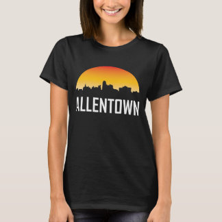 Allentown Pennsylvania Sunset Skyline T-Shirt