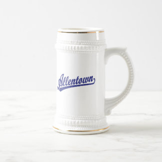 Allentown script logo in blue mug