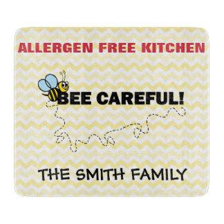 Allergen Free Cutting Board Bee Careful!