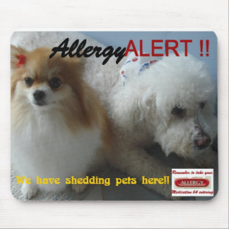 allerggic to pets sign mouse pad