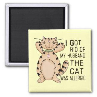 Allergic Cat Fridge Magnets