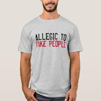 """Allergic to Fake People"" t-shirt"