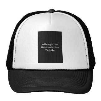 ALLERGIC TO MANIPULATIVE PEOPLE FUNNY INSULTS SAYI TRUCKER HAT