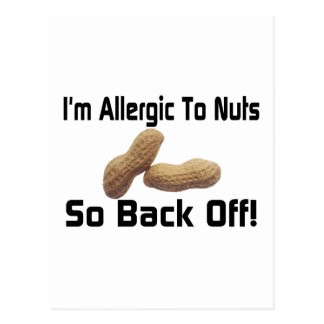 Allergic To Nuts Postcard