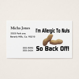 Allergic To Nuts So Back Off