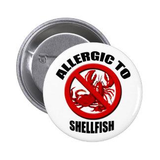 Allergic to Shellfish Medical Alert Std Button