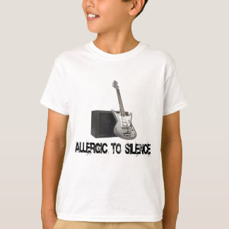 Allergic to Silence Guitar T-shirts. T-Shirt