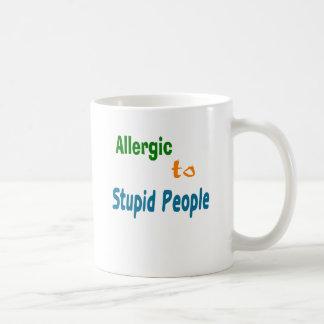 Allergic to Stupid People Basic White Mug