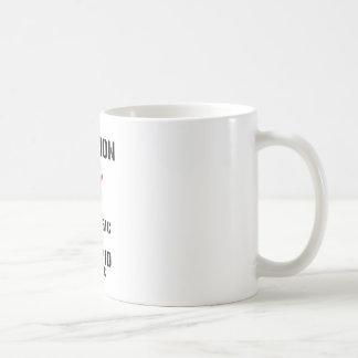 Allergic to stupid people coffee mug