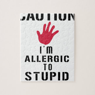 Allergic to stupid people jigsaw puzzle