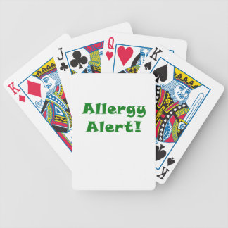 Allergy Alert Bicycle Playing Cards