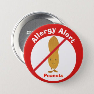 Allergy Alert Button | Peanuts