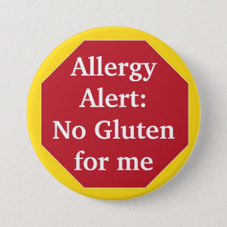 Allergy Alert:  No Gluten 7.5 Cm Round Badge