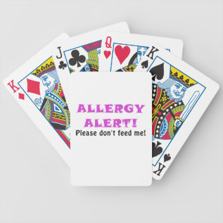 Allergy Alert Please Dont Feed Me Bicycle Playing Cards