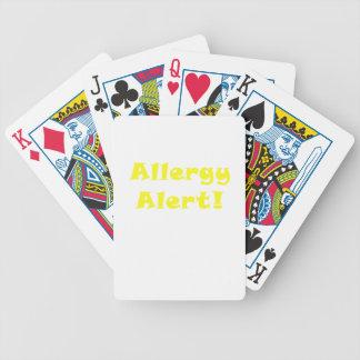 Allergy Alert Poker Deck