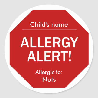 Allergy Alert stickers