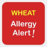 Allergy Alert - WHEAT. Square Stickers