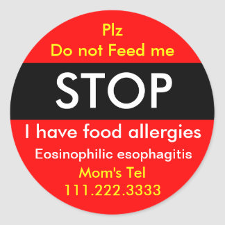 Allergy Sticker for Eosinophilic esophagitis