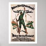 Alles Furs Vaterland WWI Poster (white)