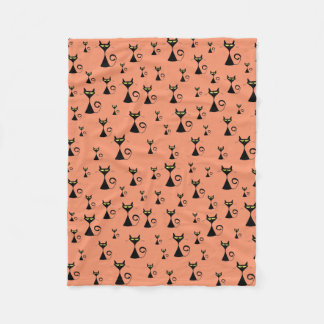 Alley Cat Pattern Fleece Blanket