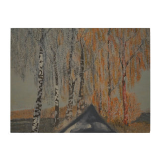 Alley into the sunset wood canvases