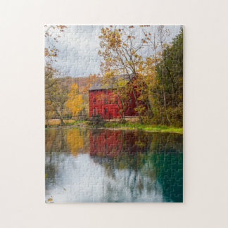 Alley Mill Autumn Jigsaw Puzzle