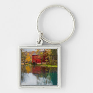 Alley Mill Autumn Silver-Colored Square Key Ring