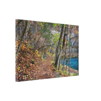 Alley Mill Autumn Walk Canvas Print
