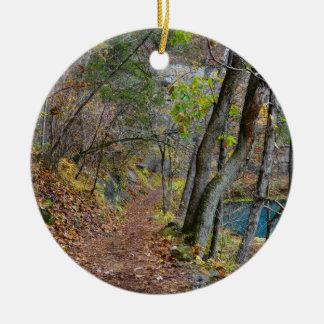 Alley Mill Autumn Walk Ceramic Ornament