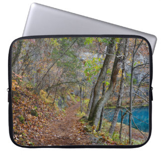 Alley Mill Autumn Walk Laptop Sleeve