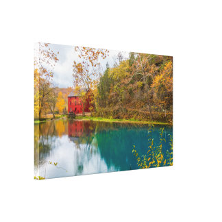Alley Roller Mill And Spring Canvas Print