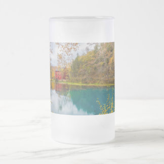 Alley Roller Mill And Spring Frosted Glass Beer Mug