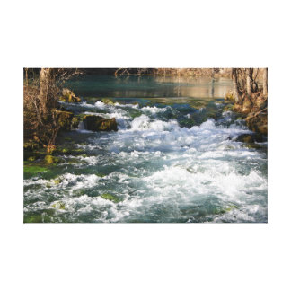 Alley Springs, MO Wintertime Spring Water Stretched Canvas Print