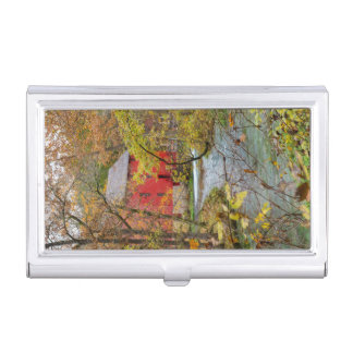 Alley Through The Woods Business Card Holder