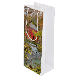 Alley Through The Woods Wine Gift Bag