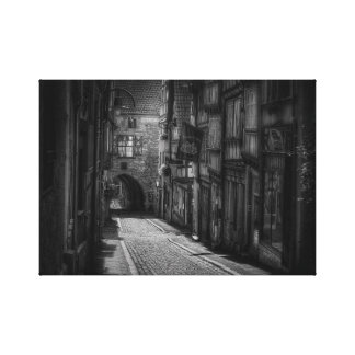 Alley way black and white print