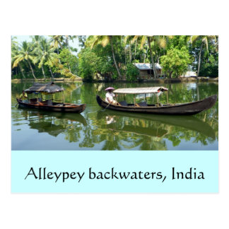 Alleypey backwaters, india postcard
