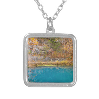 Alleys Blue Spring Silver Plated Necklace